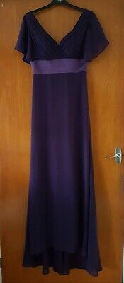 £17 • Buy Ladies Long Dress Size 8 Purple. Pre Owned (Ever Pretty)