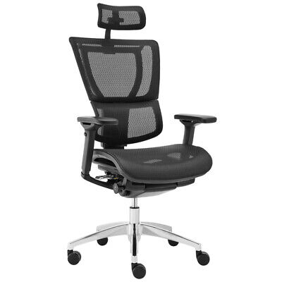 AU604 • Buy NEW Ergohuman Fit IOO Executive Back Support Home Office Chair Aluminium Base