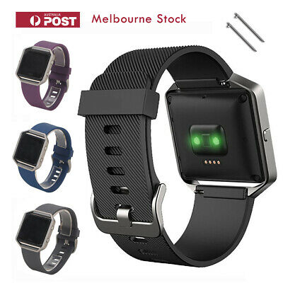 AU6.89 • Buy Fitbit Blaze Band Replacement Silicone Bands Strap Bracelet Wristband Sport MEL