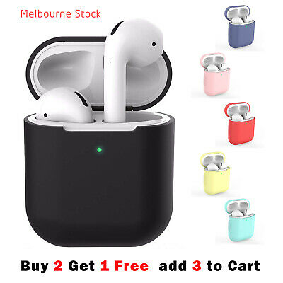 AU5.50 • Buy For Apple AirPods Case 1 & 2 LED Visible Silicone Cover Slim Skin Anti Falling