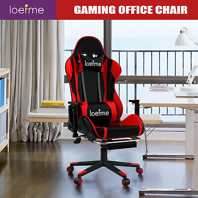 £67.99 • Buy Racing Gaming Chairs Office Executive Recliner Computer Desk Chair With Footrest