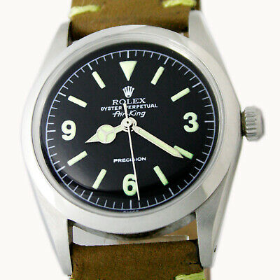 $ CDN4481.88 • Buy Rolex Air King Oyster Perpetual Explorer Dial Vintage Steel Wrist Watch