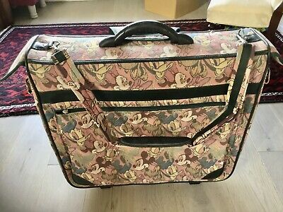 VINTAGE Disney Luggage, Mickey And Friends. Suitcase Carrier • 155£