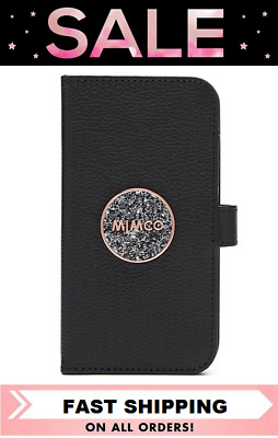 AU53.20 • Buy Mimco Bliss Iphone 11 Flip Case Cover Black Rose Gold Bnwt & Dustbag Rrp$99.95