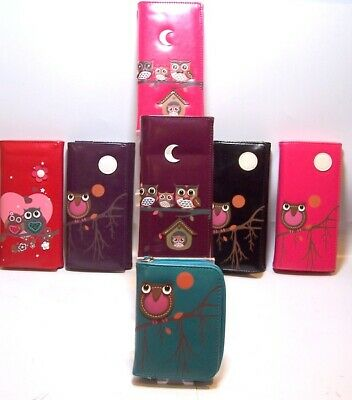 Owl Various Design PU Purse Large Or Small Various Colours • 9.99£