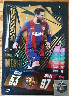 Match Attax 2020/2021 LIMITED EDITION LIONEL MESSI, GOLD, LE2G • 4.99£