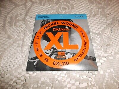 $ CDN8.75 • Buy (01) Set D Addario Regular Gauge Electric Guitar Strings10-46 EXL110