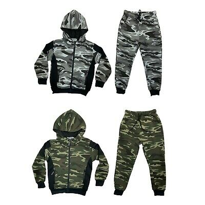 £14.99 • Buy Boys Kids Tracksuit Camouflage Jacket Joggers Jogging Bottoms Camo Outfit Set