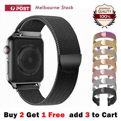 AU8.80 • Buy For Apple Watch Series 6 5 4 3 2 1 SE Stainless Steel Milanese Strap Band 40 44