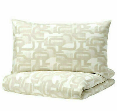 Ikea Vinterjasmin Single Quilt/Duvet Cover And Pillowcase [White Beige] • 16£