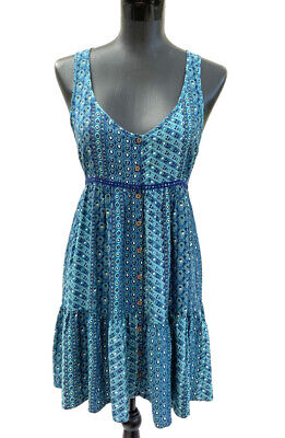 AU35 • Buy Tigerlily, Summer, Beach, Blue, Paisley, Fit And Flare Dress Size 6