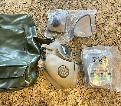 $33.64 • Buy Military Czech Full Face Gas Mask M10M With Filters & Bag Emergency Survival