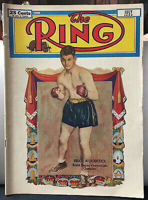 $8 • Buy The Ring Boxing Magazine July 1950 Bruce Woodcock Cover Vintage Excellent Cond