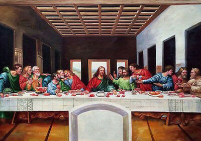 £9.99 • Buy Jesus With Disciples. The Last Supper. Old Master. Genuine Canvas. 1st Class UK.
