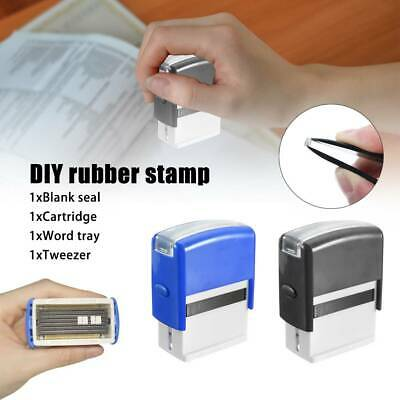 Printing Stamp Kit DIY Personalised Self-Inking Business Name Address Rubber New • 7.88£