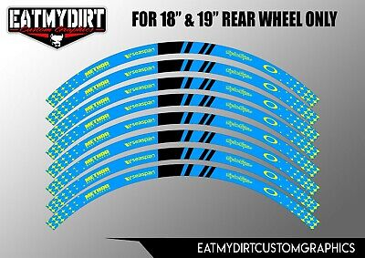 £9.99 • Buy Wheel Rim Tapes Graphics Stickers Moto X Decals To Fit Ktm 18  & 19  Rear Wheels