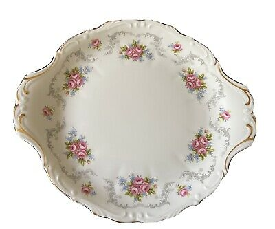 Royal Albert Tranquility Floral Handled Cake / Serving Plate 1st Quality • 19.99£