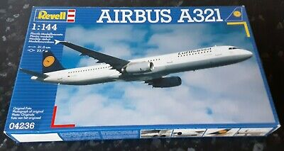 New Sealed Parts REVELL 1:144 AIRBUS A321 LUFTHANSA 04236 Vintage Model Kit  • 24£