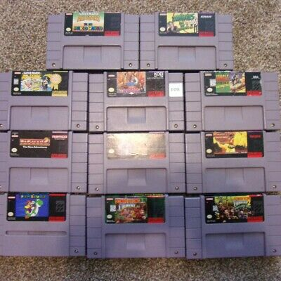 $ CDN131.82 • Buy Lot Of 11 SNES Super Nintendo Games Zombies Ate My Neighbors, Others