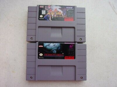 $ CDN148.30 • Buy Super Nintendo SNES Games Lot Bundle 2 Games Lufia, And Robotrek