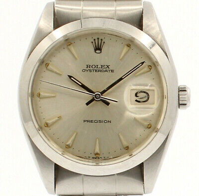 $ CDN3919.37 • Buy Mens Vintage ROLEX Oyster Date Precision 6694 Stainless Steel Watch Circa 1965
