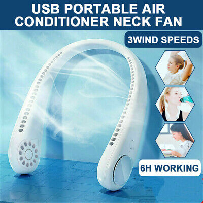 AU37.29 • Buy USB Portable Hanging Neck Fan 2 In-1 Air Cooler Mini Electric Air Conditioner AU