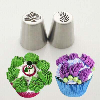 Nozzles Set Christmas Tree Snow Mold Icing Piping Tips Russian Christmas Nozzle • 4.60£