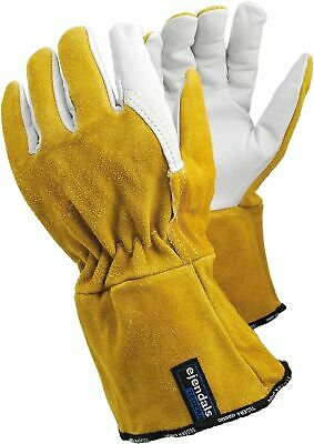 Tegera 118A Heat Resistant Leather Tig Mig Welding Work Gloves Size 10 • 13.98£