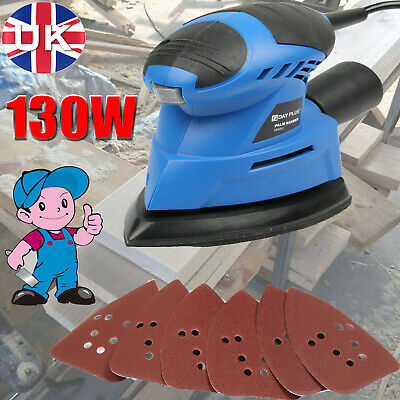 Hand Held Electric Power Tool Sander Wood Walls Floors Wooden Furniture 130W UK • 21.66£
