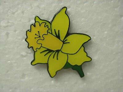 Daffodil Pin Badge. Flower Lapel. Brand New. St David. Wales Welsh. March 1st • 1.50£