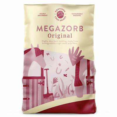 Megazorb Biodegradable Horse & Animal Bedding - Northern Crop Driers - 85Ltr Bag • 8.29£