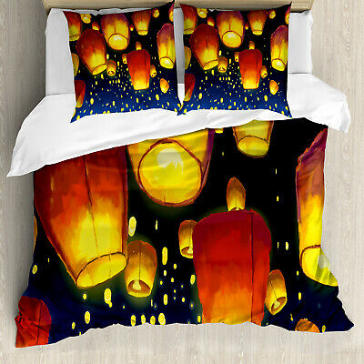 Lantern Duvet Cover Floating Fanoos Chinese • 60.99£