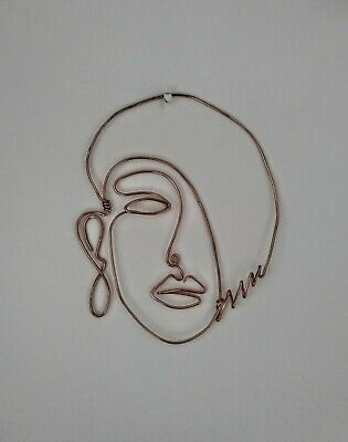 Wire Wall Art Sculpture Portrait Of A Woman • 22.50£