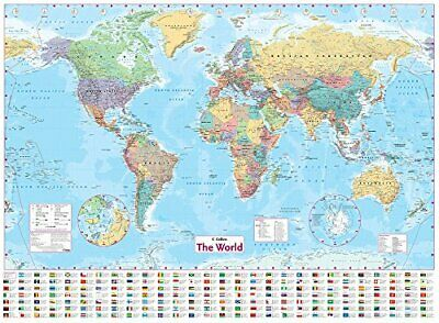 £9.19 • Buy Collins World Wall Paper Map By Collins Maps Book The Cheap Fast Free Post New