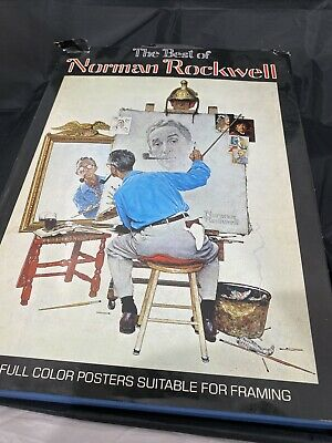 $ CDN15.82 • Buy The Best Of Norman Rockwell 40 Full Color Poster Book 1979 Edition