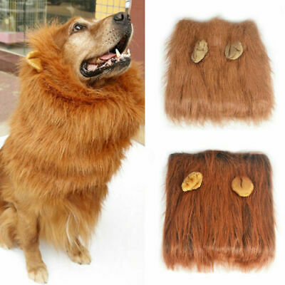 £6.99 • Buy Halloween Pet Clothes Fancy Dress Up Costume Cat Lion Mane Wig For Large Dogs