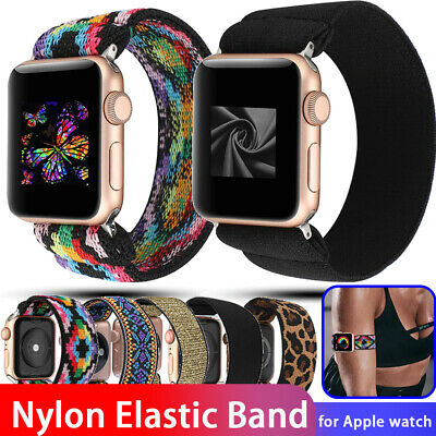AU11.89 • Buy For Apple Watch Series 6 SE 5 4 3 2 Band Nylon Elastic Strap IWatch 38 40 42 44