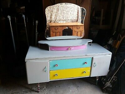 Funky Shabby Chic Style Vintage Dressing Table, Monster High Theme,  • 25.50£