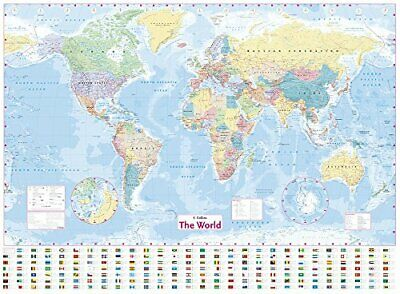 £11.19 • Buy Collins World Wall Laminated Map By Collins Maps Book The Cheap Fast Free Post