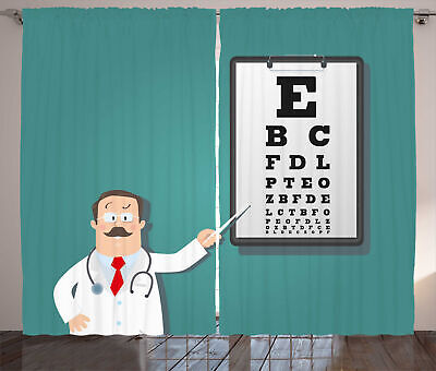 Eye Chart Curtains Optician Doctor Snellen • 55.99£