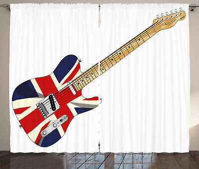 Union Jack Curtains Electric Guitar Flag • 51.99£