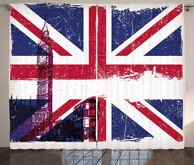 Union Jack Curtains Country Culture Old • 55.99£
