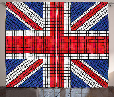Union Jack Curtains Mosaic British Flag • 51.99£