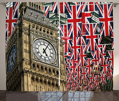 Union Jack Curtains UK Flags • 51.99£