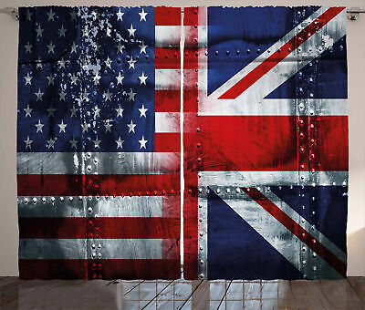 Union Jack Curtains Alliance UK And USA • 51.99£