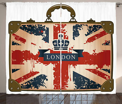 Union Jack Curtains Vintage Suitcase • 55.99£