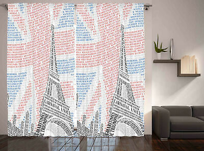 Paris Curtains Eiffel Tower On Union Jack • 51.99£