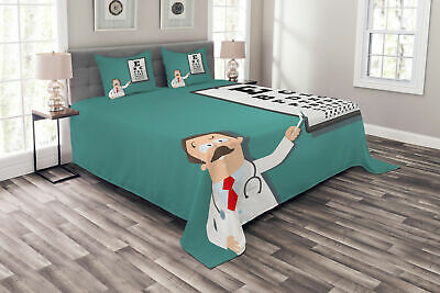 Eye Chart Bedspread Optician Doctor Snellen • 55.99£