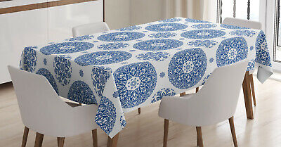 £18.99 • Buy Paisley Tablecloth Vintage French Blue