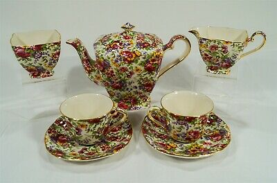 $ CDN38.57 • Buy Royal Winton Grimwades Summertime 1995 Ascot Teapot Sugar Creamer Cups & Saucers